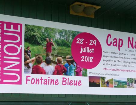 Cap Nature 2018 – les 28 et 29 juillet à la Fontaine Bleue à Mouscron