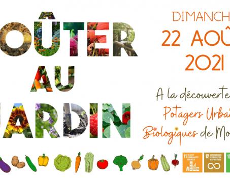 Gouter au jardin – ce week-end – Dimanche 22 août 2021 à Mouscron.